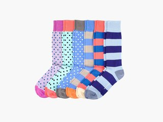 Probably one of the few designs that would make anyone happy to see socks in their Christmas stocking. Nice Laundry Dreamer VI socks, $49