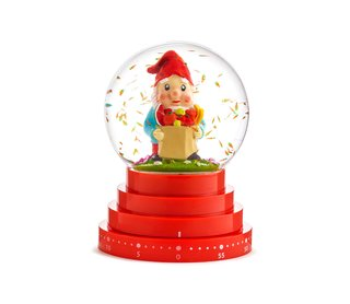 Iconic Italian design meets functionality and playfulness. Deign Memorabilia Carrot Globe Kitchen Timer, $39
