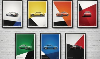 Porsche 911 Carrera RS Poster Collection
