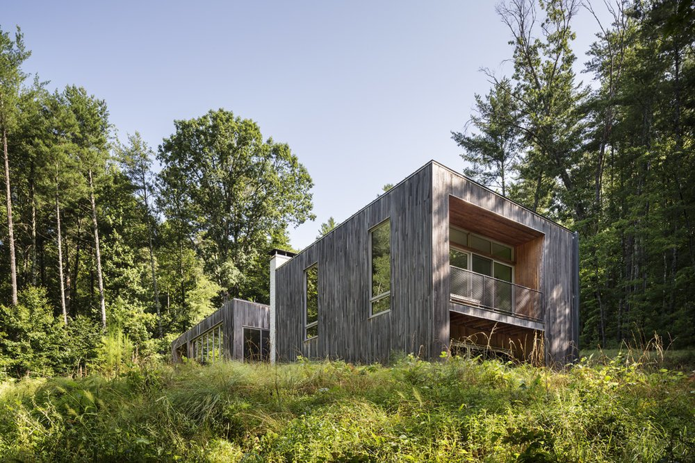 #dwelllpow  Photo 2 of 5 in A Cypress-Clad Lake House Posted Up on an Old Logging Road