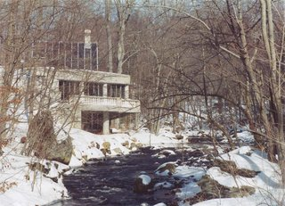 "Shown here is an archival photo of the house during the winter season. Black has sometimes been referred to as the ""Sixth of the Harvard Five""—the architects that made history by leading the modern design movement that flourished in Connecticut during the midcentury era."