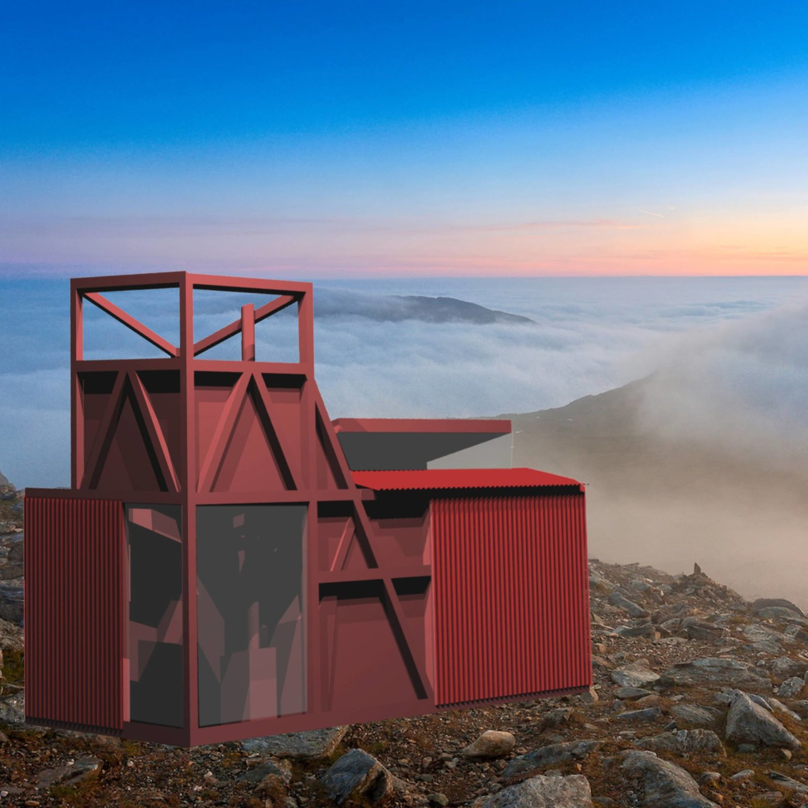 How About Studio's Miners Hut  Photo 7 of 9 in A Design Competition Unveils a Pop-Up Hotel Concept That's Soon to Hit the Welsh Countryside