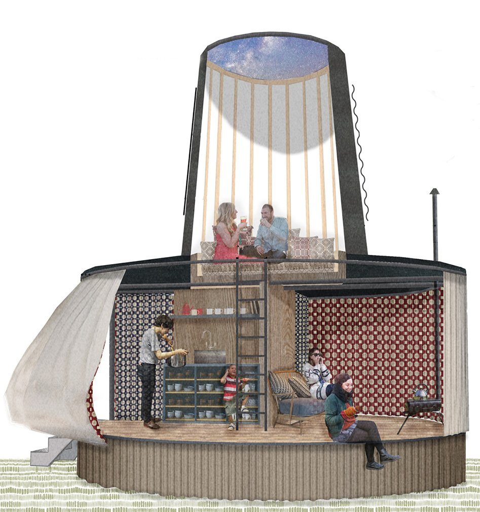 Rural Office for Architecture's Black Hat  Photo 6 of 9 in A Design Competition Unveils a Pop-Up Hotel Concept That's Soon to Hit the Welsh Countryside