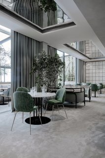 Flora Danica offers an abundance of natural light and direct access to the terrace from the large, Scandinavian-style dining room.