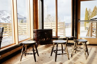 The restaurant looks out to 270-degree views of the Catskill Mountains and takes in ample natural light.
