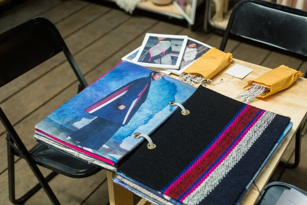 Escudo Peru references the past when looking towards the future. They bring together old and new through their use of fibers, knits, embroideries, colors, and seams.  Photo 13 of 18 in Part II of Our Exploration of Mexico City's Caravana Americana