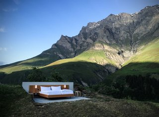 An Open Air Hotel Room in the Swiss Alps