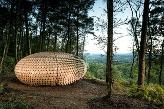 An Organic Cedar Wood Pavilion Filled With Meaning