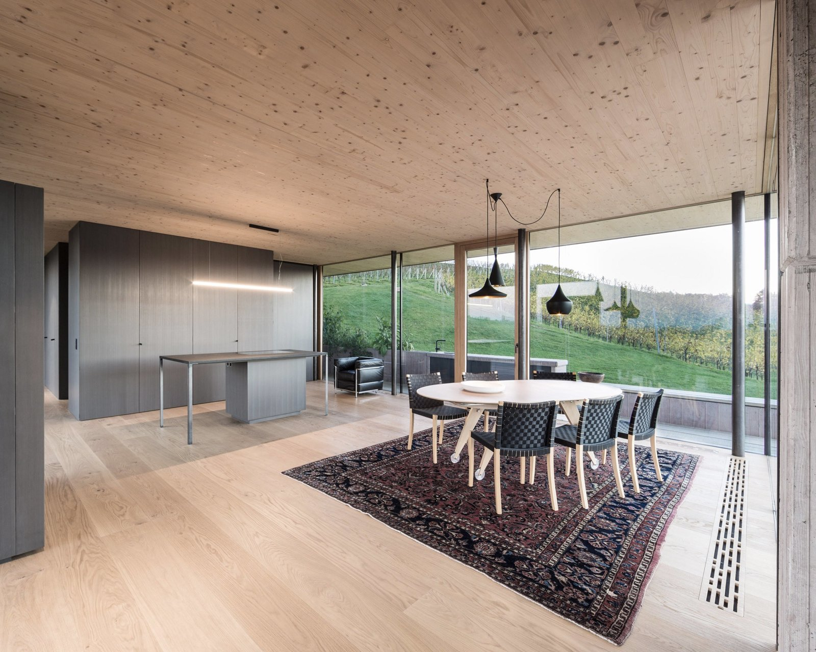 Kitchen from A Former Wine Press House Becomes a Modern Vineyard Home