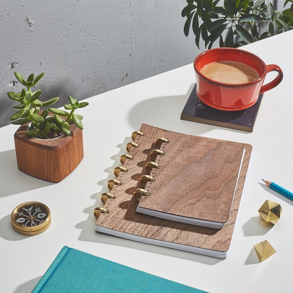 Pacific & West Refillable Wood Notebooks
