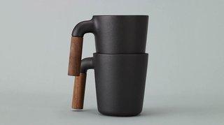 Mugr Ceramic and Wood Coffee Mug