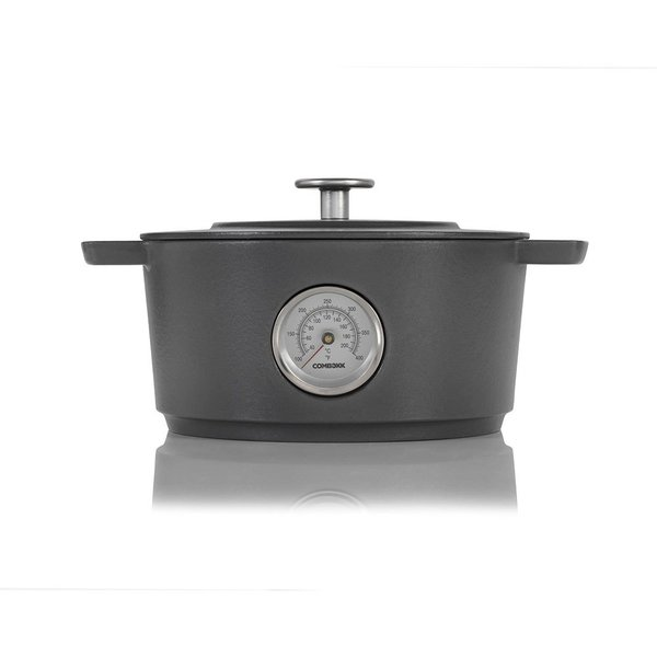 Railway Cast Iron Dutch Oven with Thermometer