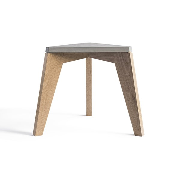 Maple Wood and Concrete Stool