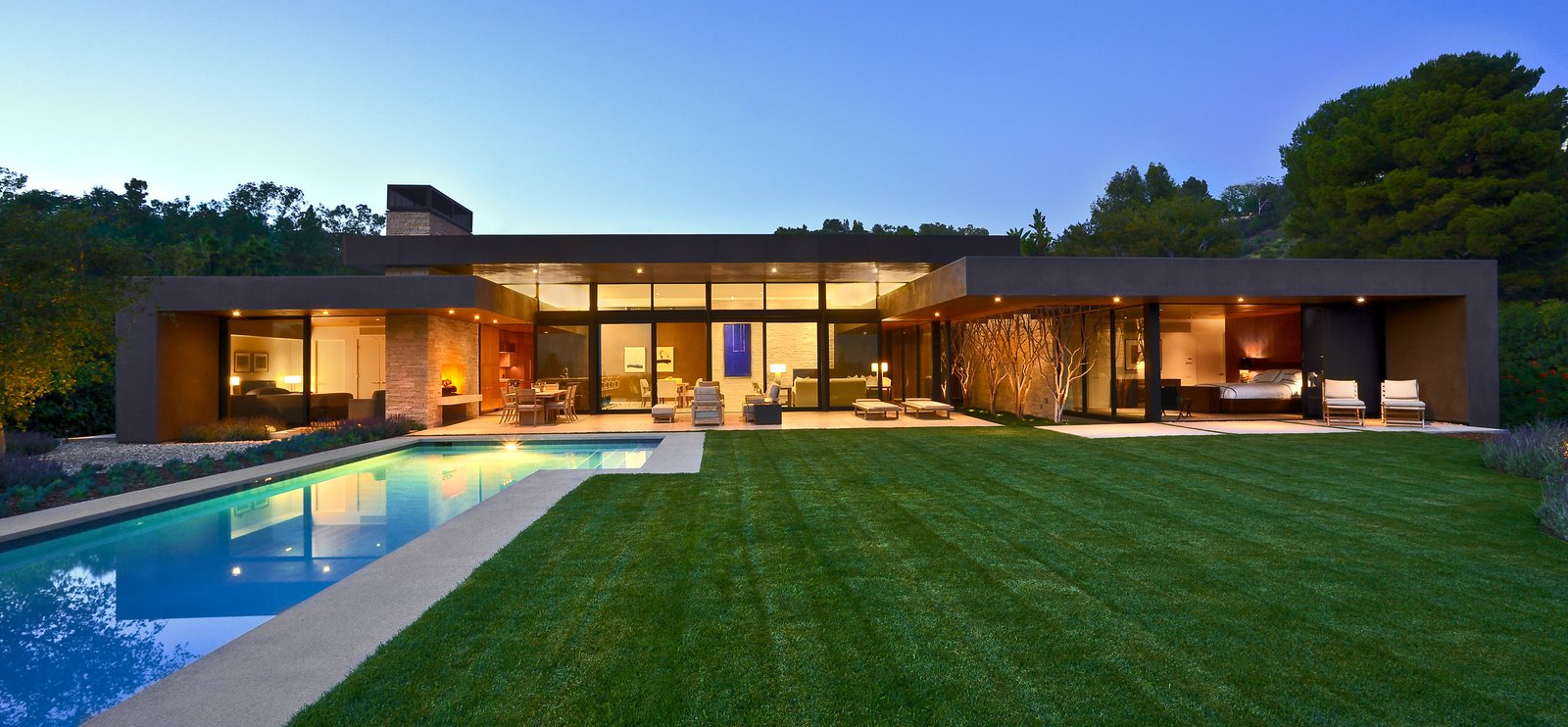 Trousdale residence modern home in beverly hills - Casa campo y jardin ...