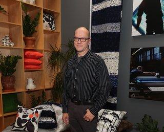 Petri Juslin, Marimekko's artwork studio manager since 1986.