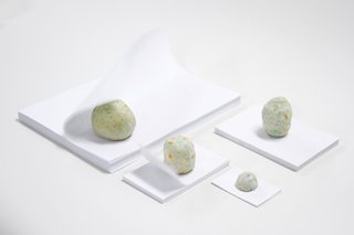 Fluttering pages got you down? Make that problem solve itself with Chiaozza's Paper Paperweights. Though they look like simple cannibalized scraps, there's a hidden tungsten ball tucked inside these weighty weights.