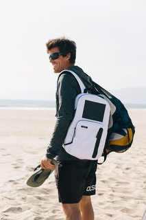 BirkSun's backpacks make charging mobile with integrated solar panels and a battery.