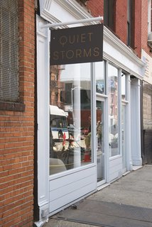 """The shop is located on a busy commercial stretch of Grand Street in Williamsburg. """"The location required a quiet oasis,"""" architect Elizabeth Roberts<span style=""""line-height: 1.8;"""">says</span><span style=""""line-height: 1.8;"""">. </span>"""