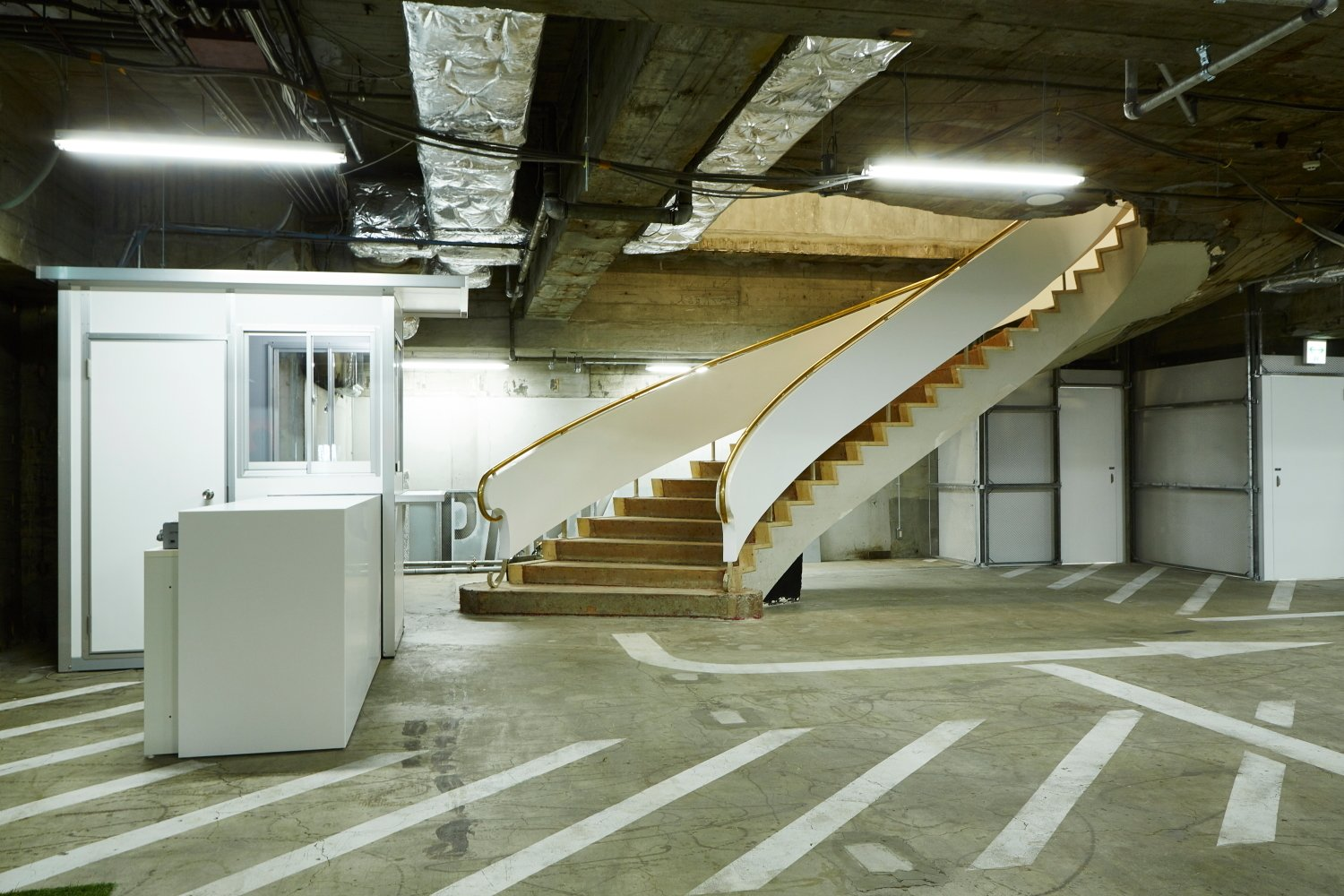 Garage  Photo 4 of 11 in 10 Surprising Garage Transformations from A Surprise Hides in this Tokyo Parking Garage