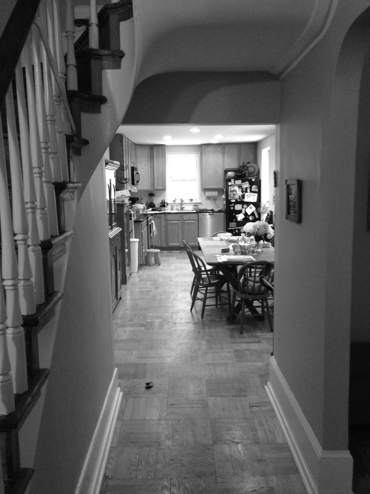 Reorganizing the original kitchen and dining area was one of the main goals of the renovation.  Photo 7 of 9 in Philadelphia Row House Renovation