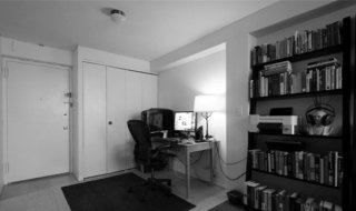 Before, the entrance was overwhelmed by a desk and task chair that prevented access to the main closet.