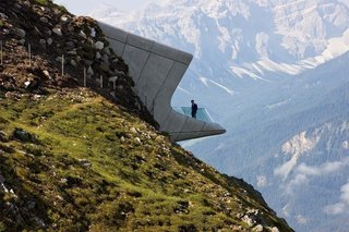 The Messner Mountain Museum, located 7464 feet above sea level in Italy's Dolomites, is one of Zaha Hadid's last works. The celebrated British architect passed away in March.