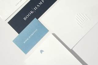 BookHampton's new wordmark is set in serif Didot with Futura as the supporting fonts