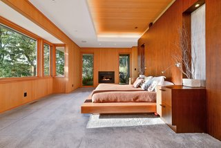 A Quintessential Midcentury Home Goes LEED Platinum - Photo 4 of 5 - The 4,000-square-foot home previously contained a single bedroom, an egregious waste of space. Subdivided into three bedrooms, the house is shared by the Bloemkers and their four children. The modular carpet is by FLOR.