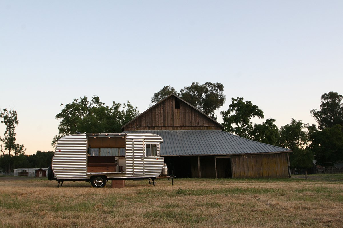 Exterior, Camper Building Type, and Metal Siding Material  Photo 1 of 4 in This Tiny Trailer Makes the World its Living Room