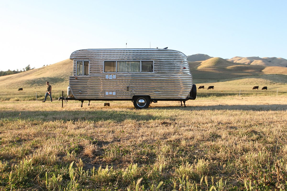 Exterior, Camper Building Type, and Metal Siding Material  Photos from This Tiny Trailer Makes the World its Living Room
