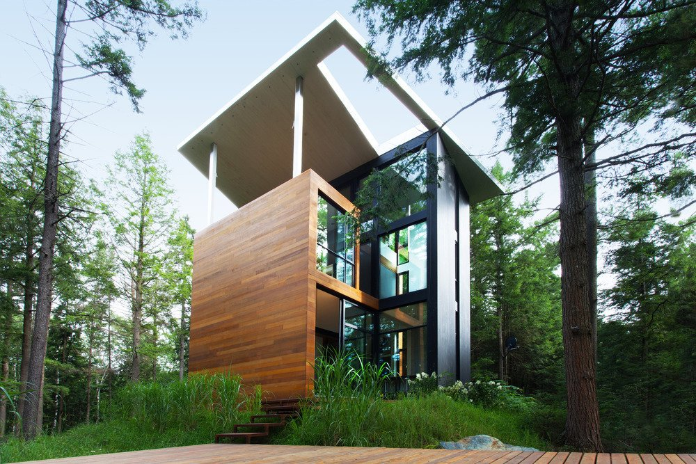 Exterior, Wood Siding Material, and Metal Siding Material  Photo 1 of 5 in Is it Any Surprise a Sculptor Had a Hand in This Home?