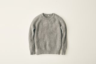 Every Fiber of Muji's New Clothing and Apparel Line Can Be Yours for $80 or Less - Photo 6 of 6 - Women's Rib-Knitted Sweater, $59