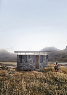 The Slate Cabin by TRIAS utilizes a local material