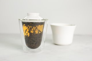 The tea maker infuses the scents and flavors during the steeping process.