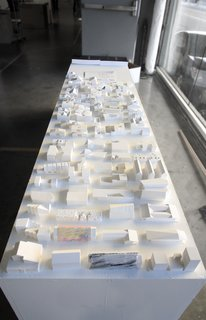 A collection of study models during the final review of the SCI-Arc house for Habitat LA.
