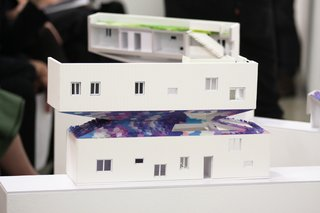 Early designs of the house presented at the final review for the SCI-Arc and Habitat LA final project.