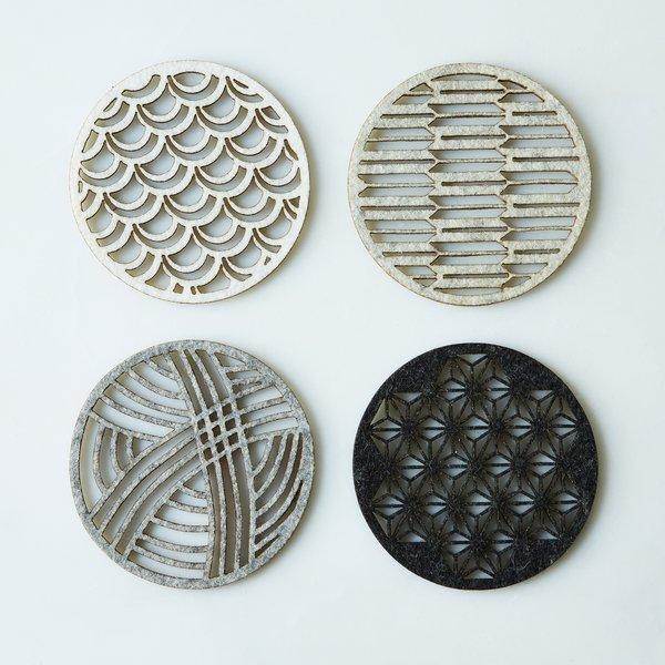 Geometric Felt Coasters