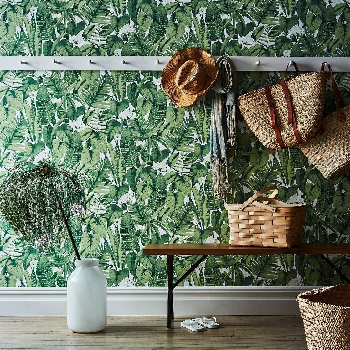 Photo 1 of 1 in Tempaper Self-Adhesive Wallpaper, Tropical Jungle