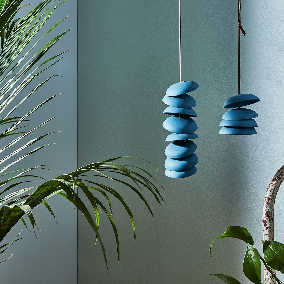 Photo 1 of 1 in Pigeon Toe Ceramics Blue Porcelain Wind Chimes