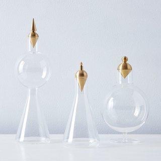 Anna Karlin Geometric Glass & Brass Vessels