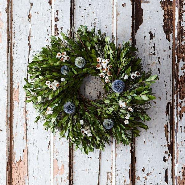 Myrtle & Thistle Wreath
