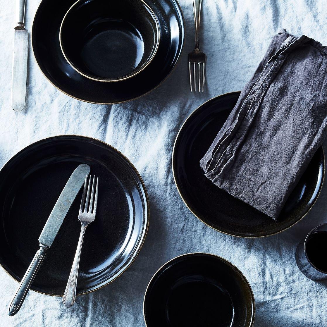 Black Japanese Ceramic Dinnerware (Set of 4) & Black Japanese Ceramic Dinnerware (Set of 4) by Food52 - Dwell