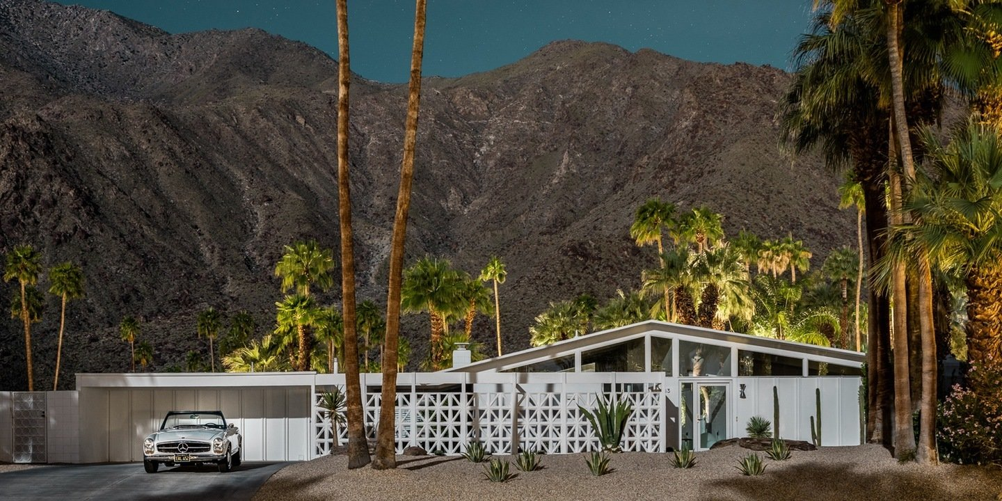 Here's Palm Springs In All Its Nighttime Glory