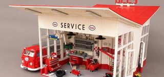 A Modernist Gas Station Made From Lego Is Fit For Any Shelf