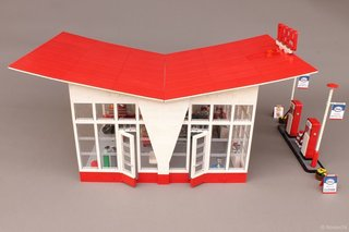 A Modernist Gas Station Made From Lego Is Fit For Any Shelf - Photo 5 of 6 -