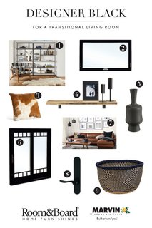 Diagnosing Your Designer Black Style: Three Rooms, Three Ways - Photo 3 of 3 -