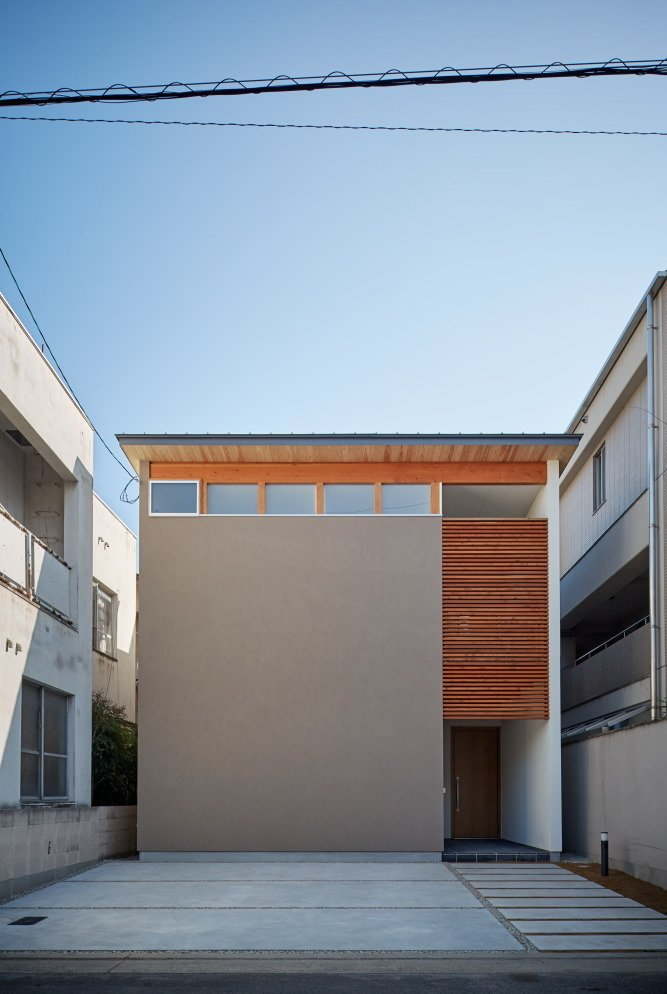 Exterior, Wood Siding Material, House Building Type, and Flat RoofLine  Photo 10 of 10 in 10 Ultra-Modern Homes in Japan from House of Takamatsu Bancho by TENK