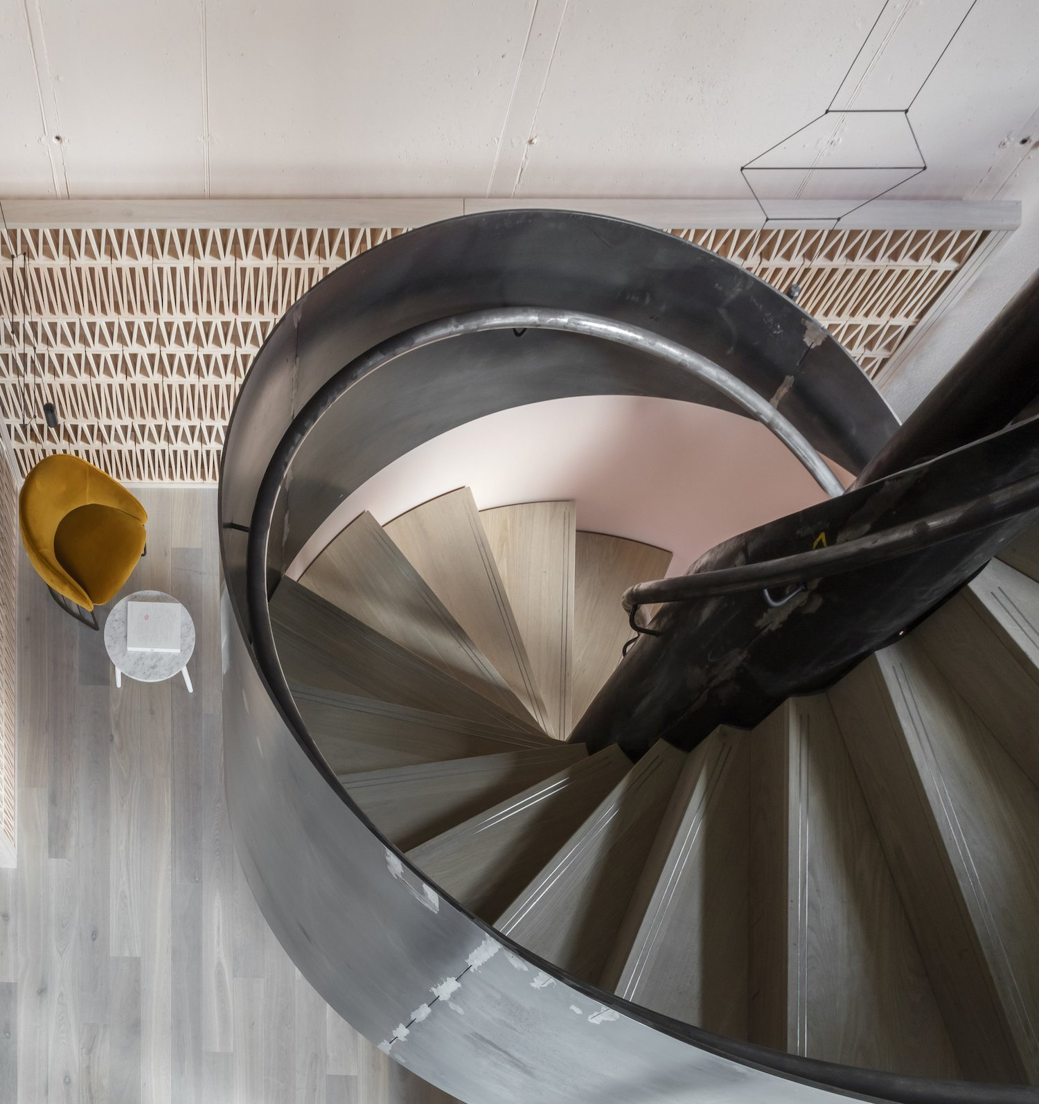 Staircase, Wood Tread, and Metal Railing  Photo 3 of 7 in Leman Locke London by Grzywinski+Pons
