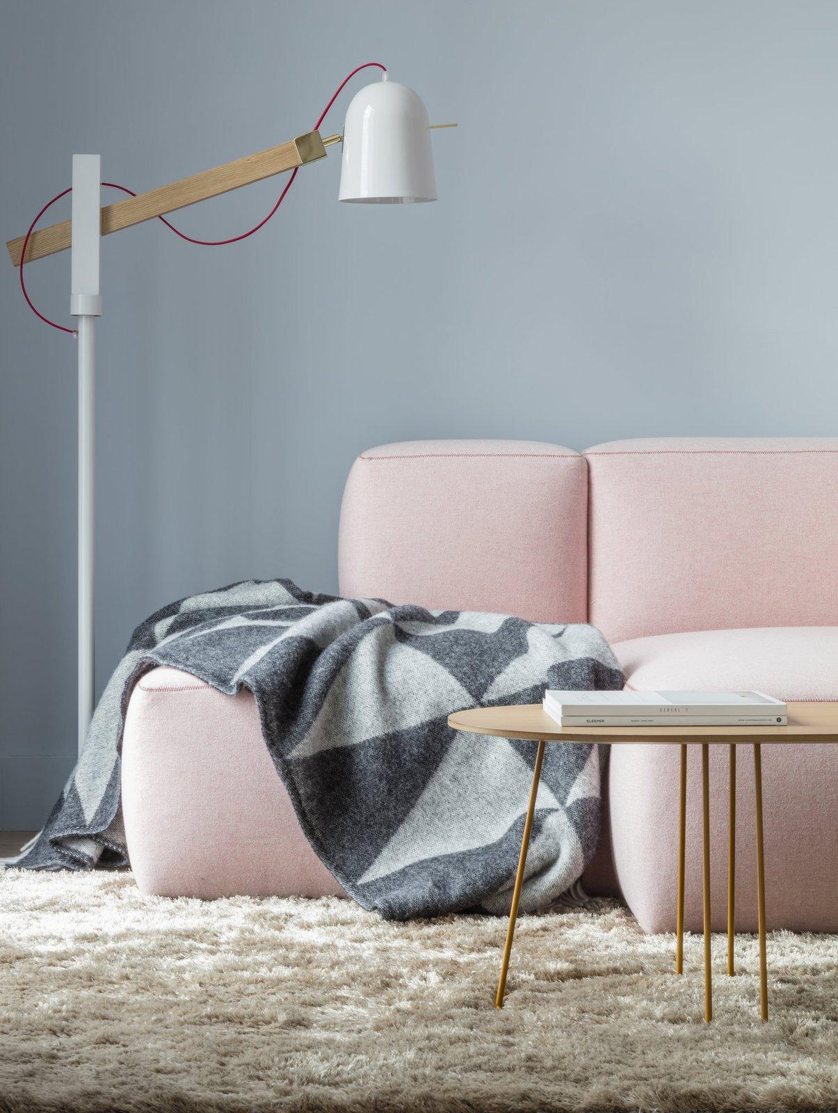 Living Room, Rug Floor, Sofa, and Lamps  Photo 6 of 7 in Leman Locke London by Grzywinski+Pons