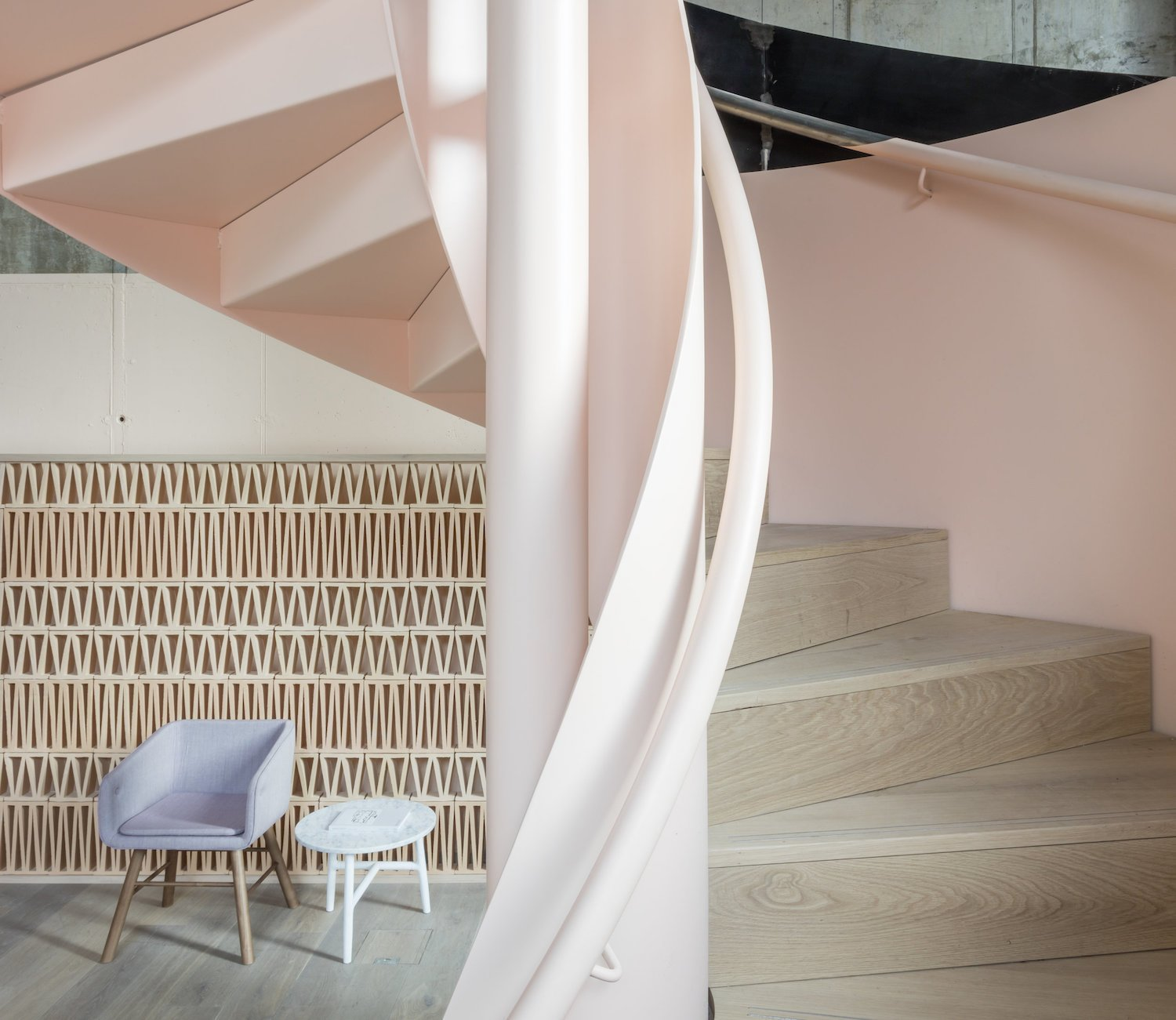 Staircase, Wood Tread, and Metal Railing  Photo 1 of 7 in Leman Locke London by Grzywinski+Pons